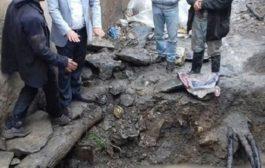 گور تاریخی در محله ساغریسازان رشت کشف شد