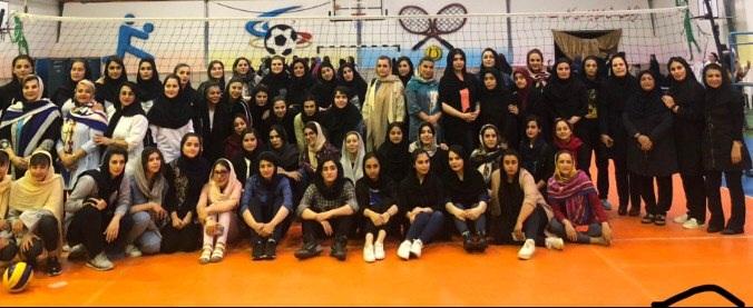 فینال مسابقات والیبال بانوان جام رمضان برگزار شد
