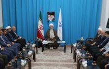 دیدار رئیس و اعضای شورای قضایی استان با آیت الله فلاحتی نماینده ولی فقیه در گیلان به مناسبت هفته قوه قضائیه