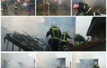 خانه ویلایی در آتش سوخت