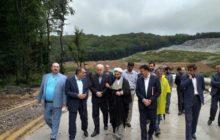 شهردار رشت و روسای دادگستری و بازرسی گیلان از روند اجرای تصفیه خانه شیرابه پسماندهای سراوان بازدید کردند